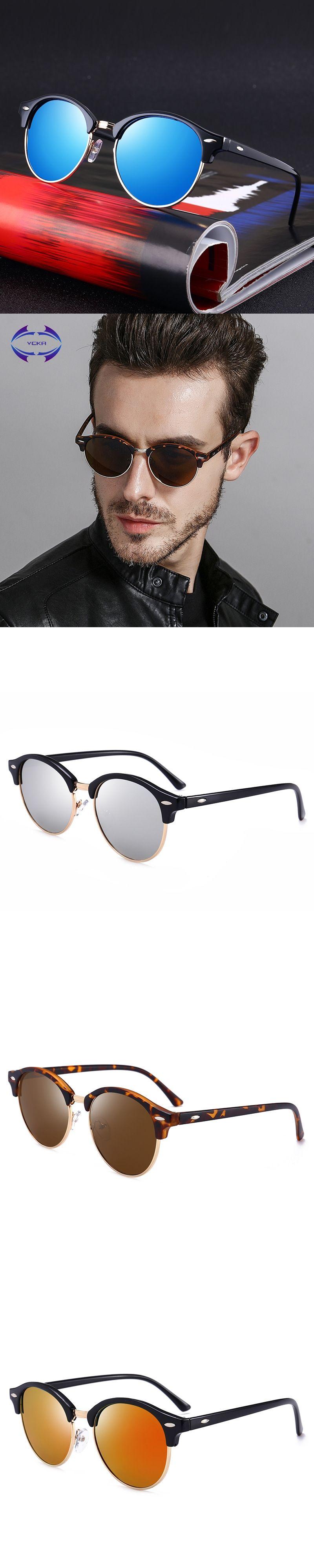 eaaa2fdb083 VCKA Round Polarized Sunglasses Women Brand Designer 2018 Luxury Vintage  Sun Glasses Men mirror UV400 Shades