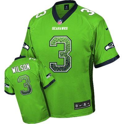 best cheap 0b700 1369d Elite Men's Green Russell Wilson Jersey - #3 Seattle ...