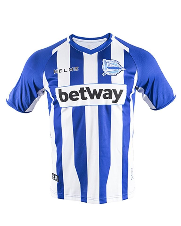 Deportivo Alavés Kelme Home 2018-2019 Club de football FÚTBOL SOCCER KIT  CALCIO SHIRT JERSEY 4bb634e4837d7