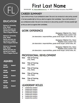 How To Make Your Resume Better Alluring Teacher Resume Template  Sleek Gray And White  Leadership Roles .