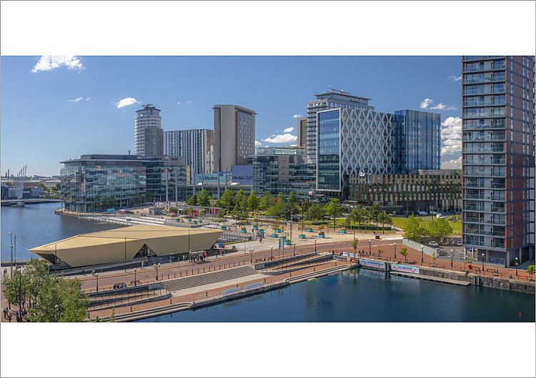 Poster Print-UK, England, Greater Manchester, Salford, Salford Quays, North Bay, MediaCityUK-A2 poster sized print (420x594 mm) made in the UK
