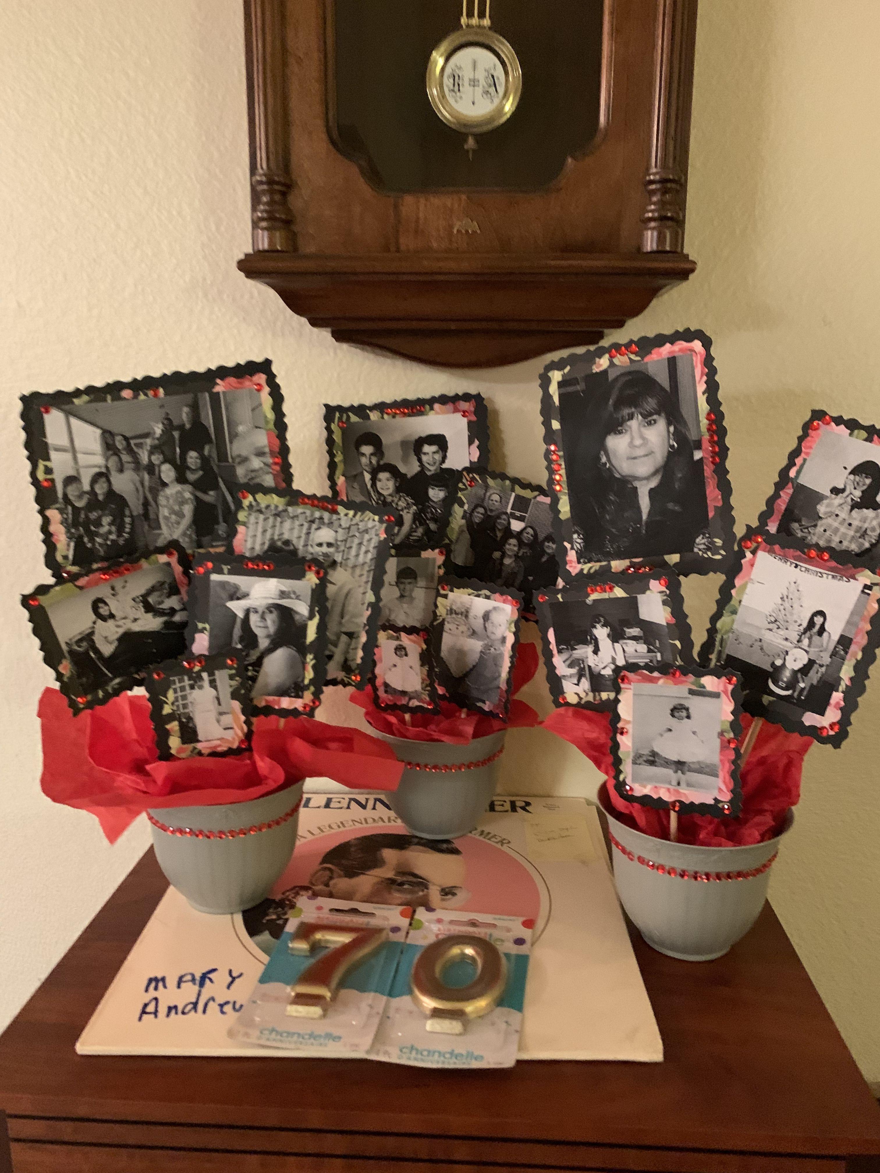 70th birthday photo bouquets birthday photos photo
