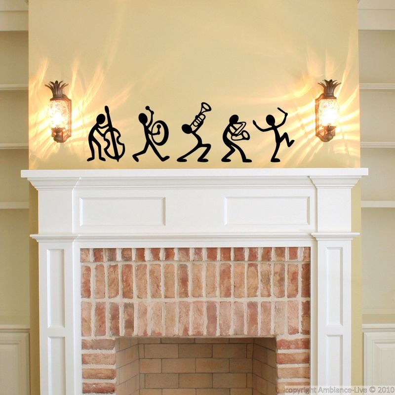 These jazz band music wall decals can give you ideas for decorating