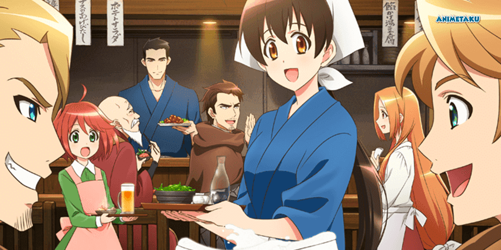 Promocional para el anime Isekai Izakaya Koyto Aitheria