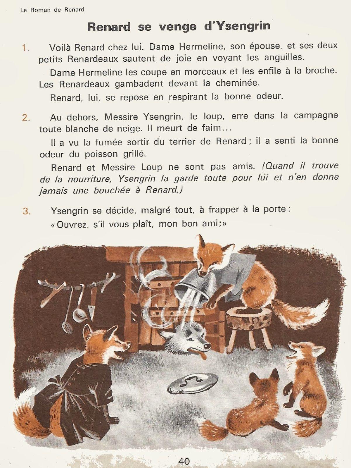 4 Aventures De Renard Le Roman De Renart Aprender Frances Ilustracoes Criatividade