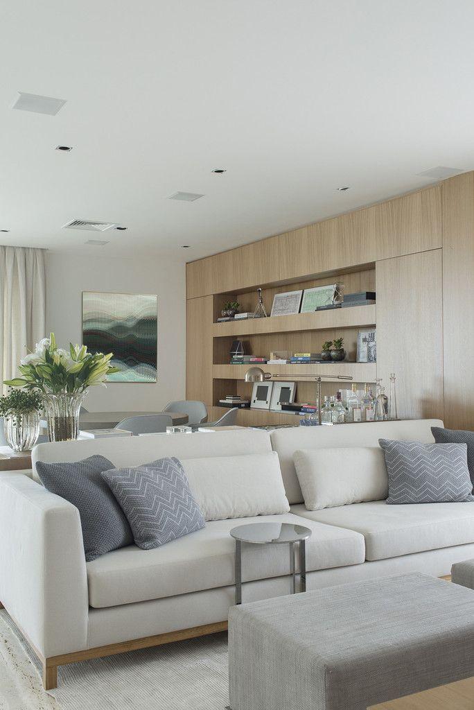 Apartamento Gr Salas De Estar Modernas Por Triplex