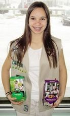 "Girl Scout ""Super Seller"" relishes the challenge."