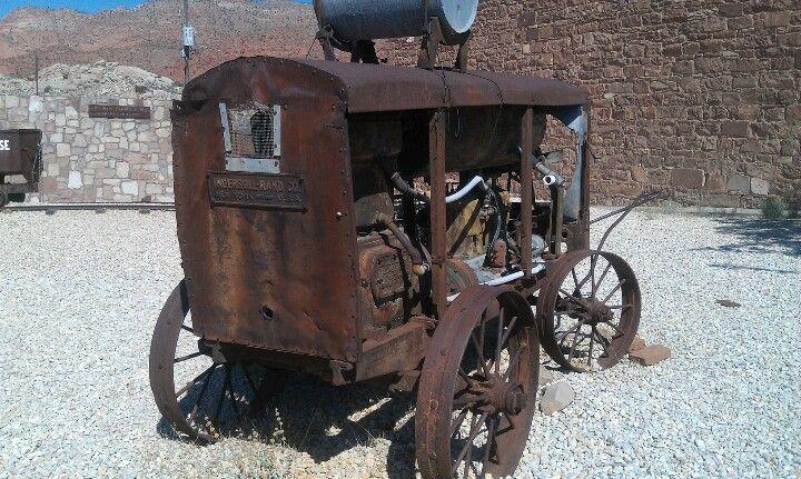 Very old air compressor in Leeds, Utah used in old Silver