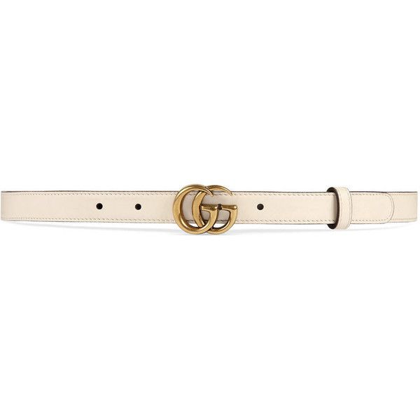 f9b88c62788d1 Gucci Leather Belt With Double G Buckle ( 275) ❤ liked on Polyvore  featuring accessories