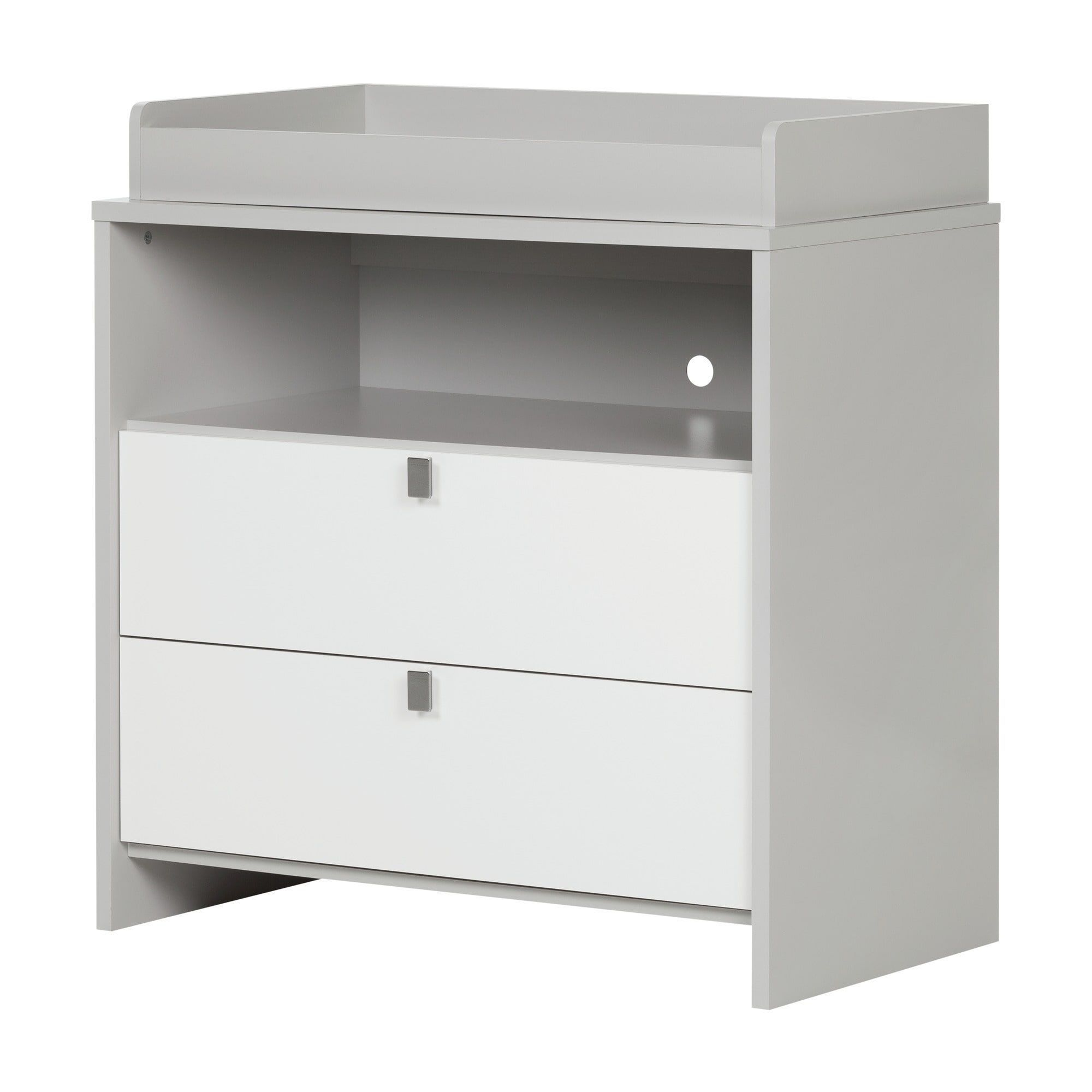 South shore cookie changing table soft grey and pure white products