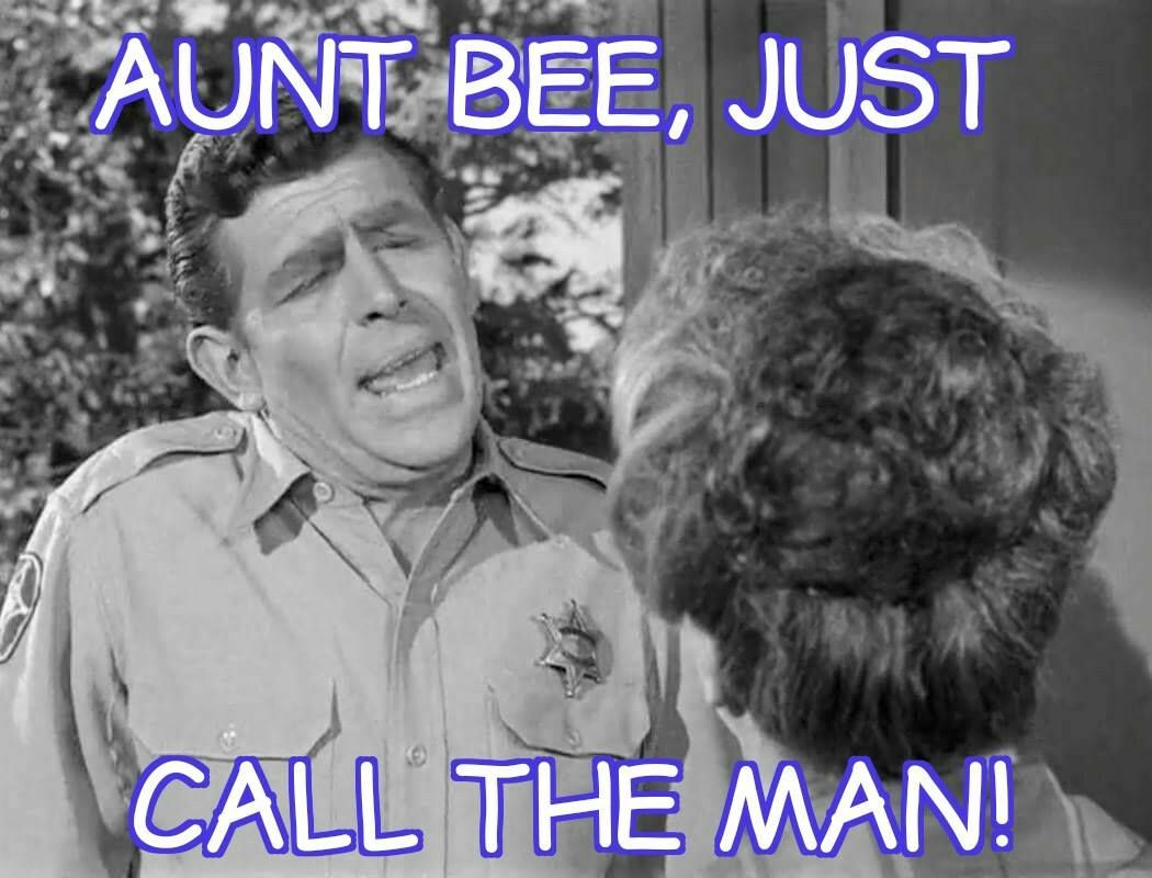 Aunt Bee Just Call The Man Andy Griffith Quotes Andy Griffith