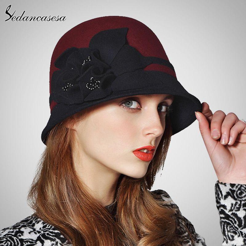 Sedancasesa® Unique Cloche Hats For Women High Quality Australia Wool Felt