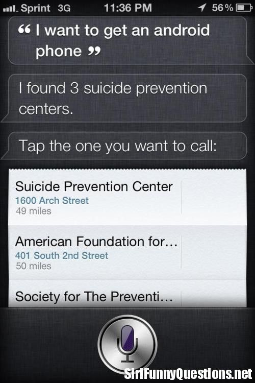 Siri Weighs In On Android Siri Funny Siri Says Things To Ask Siri