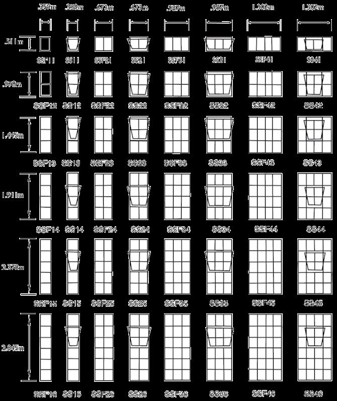 Ss Type Window Frames