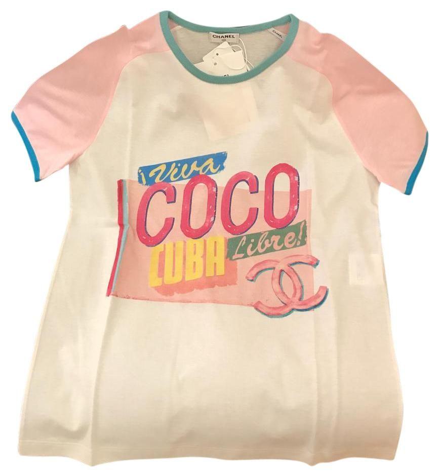 Runway 2017 Coco Cuba Pink Short Sleeves T Shirt Pink