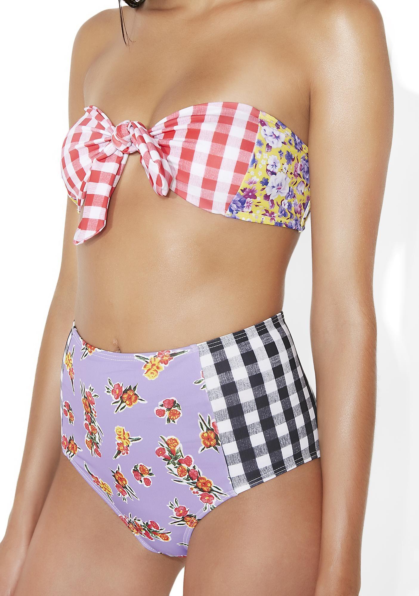 Checkered bikinis