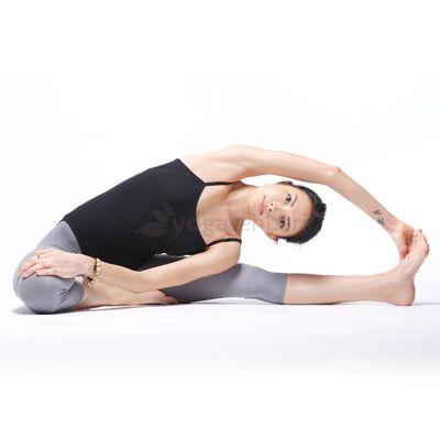 stretch lengthen  bring harmony • parivrtta janu