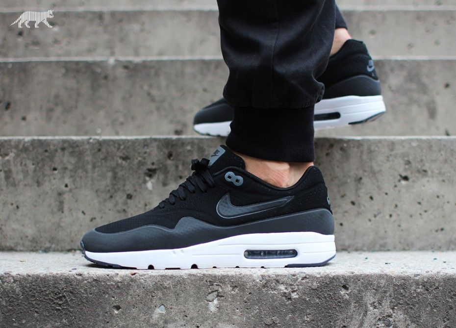 Nike Air Max 1 Ultra Moire (Black Black Dark Grey