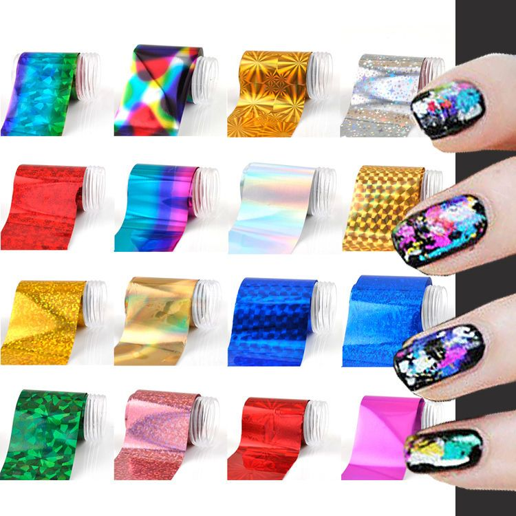 1 Easy DIY Fashion Nail Art Transfer Foil Nail Sticker Tips Gitters Decoration Hot #Dolphin