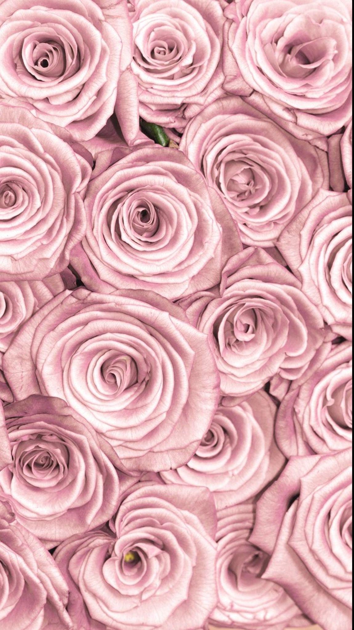 Flowers Lockscreen Rose Gold