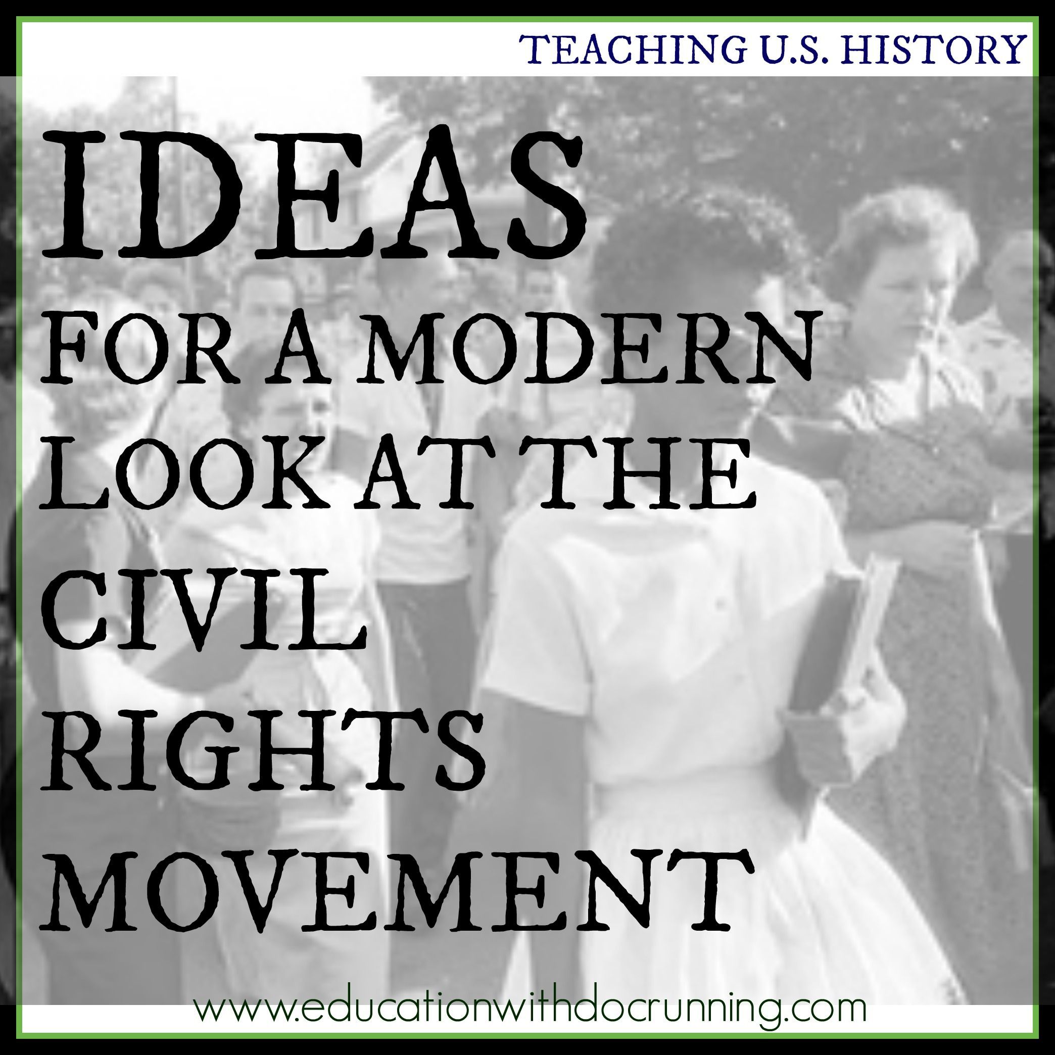 Connect The Civil Rights Movement Of The Past To The
