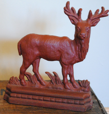 Cast Iron Stag Door Stop   Circa: 1910