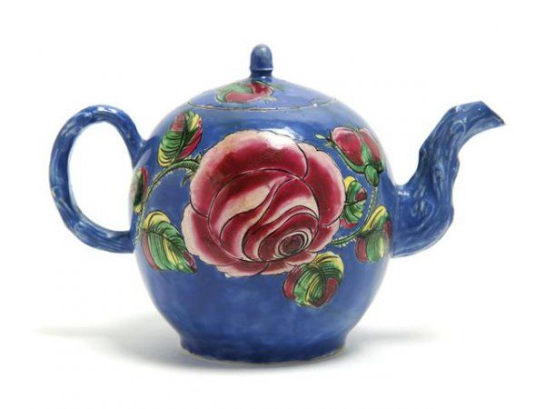 English Teapots | 37: An English Ceramic Teapot, Height 5 1/4 inches. : Lot 37