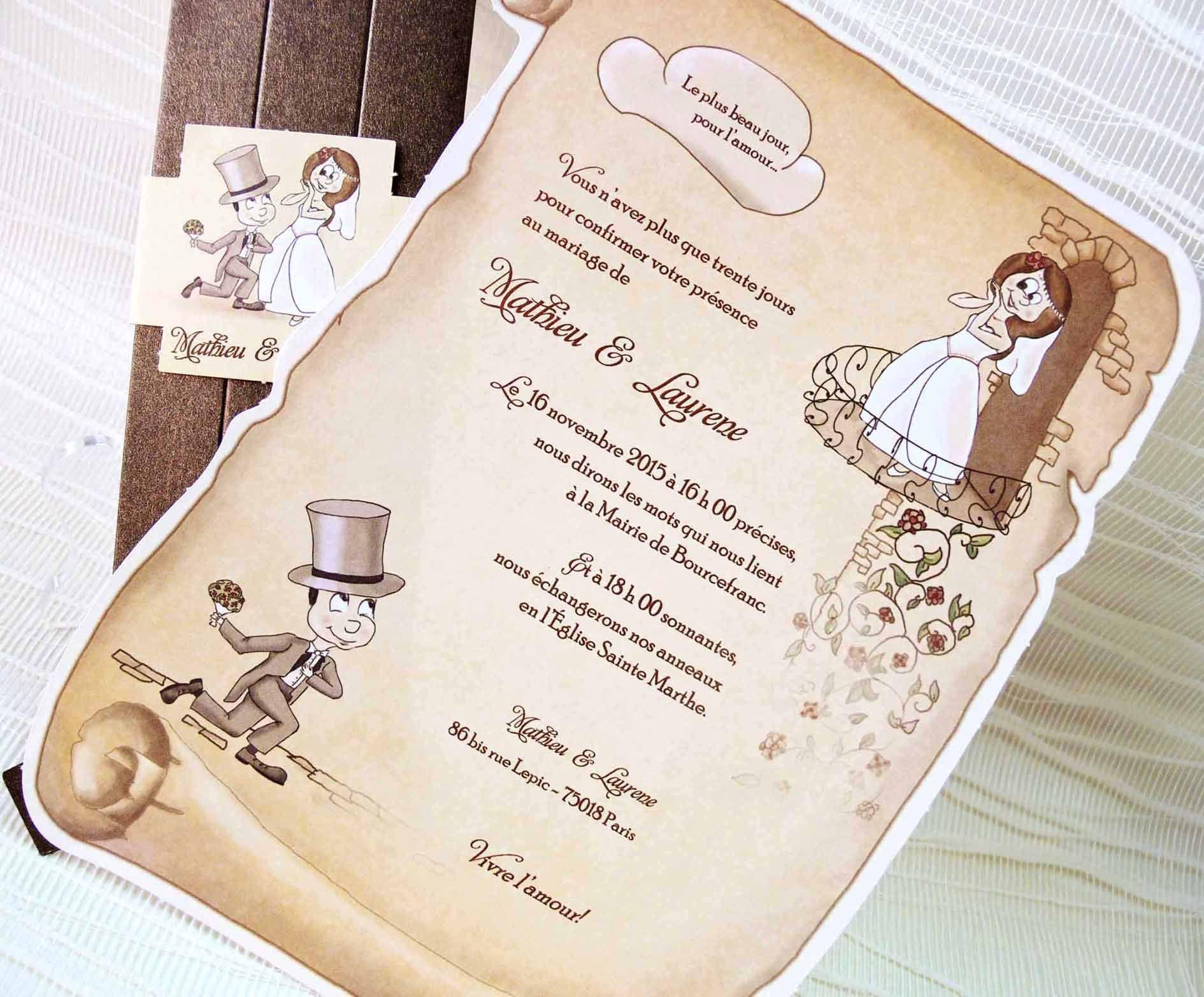 Invitaciones Boda Pergamino Para Ver Desde El Celular E Imprimir