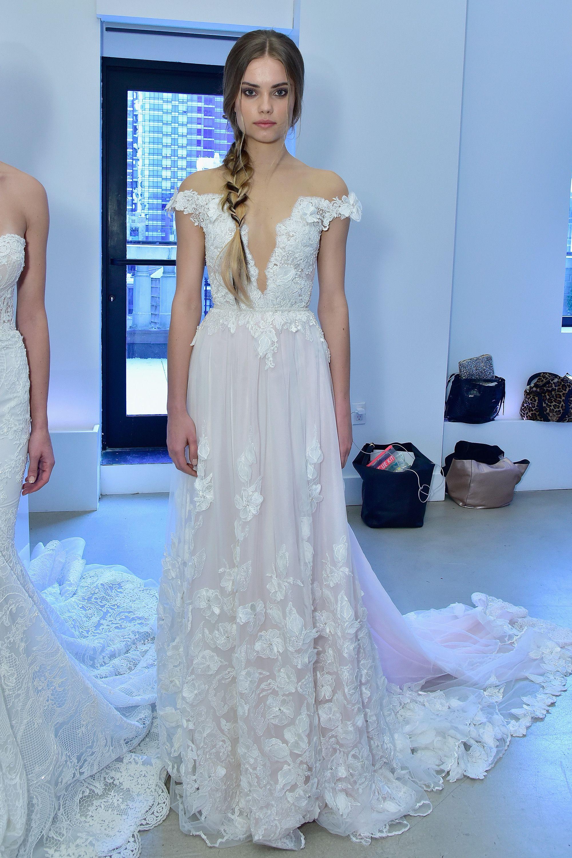 The Most Breathtaking Wedding Dresses From Bridal Fashion Week ... 39fa95cd1d6