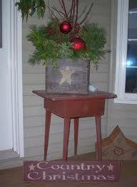country front porch christmas decor google search - Primitive Christmas Porch Decor