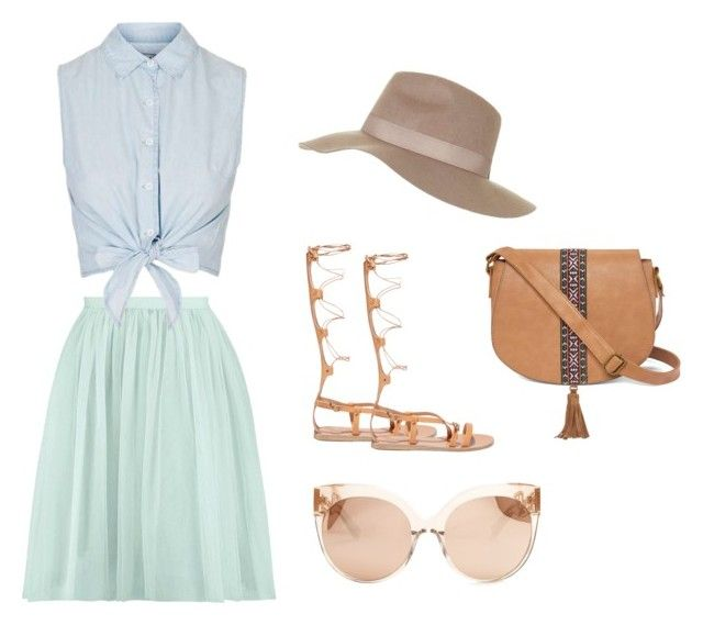 """My Style"" by london22-1 ❤ liked on Polyvore featuring Topshop, Linda Farrow, Ancient Greek Sandals and T-shirt & Jeans"