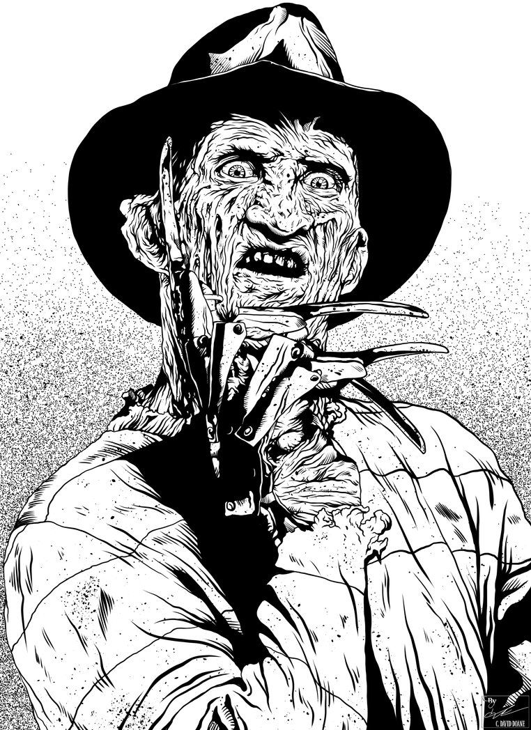 Freddy kruger coloring pages ~ Freddy Kruger by frostdusk | Freddy krueger drawing ...
