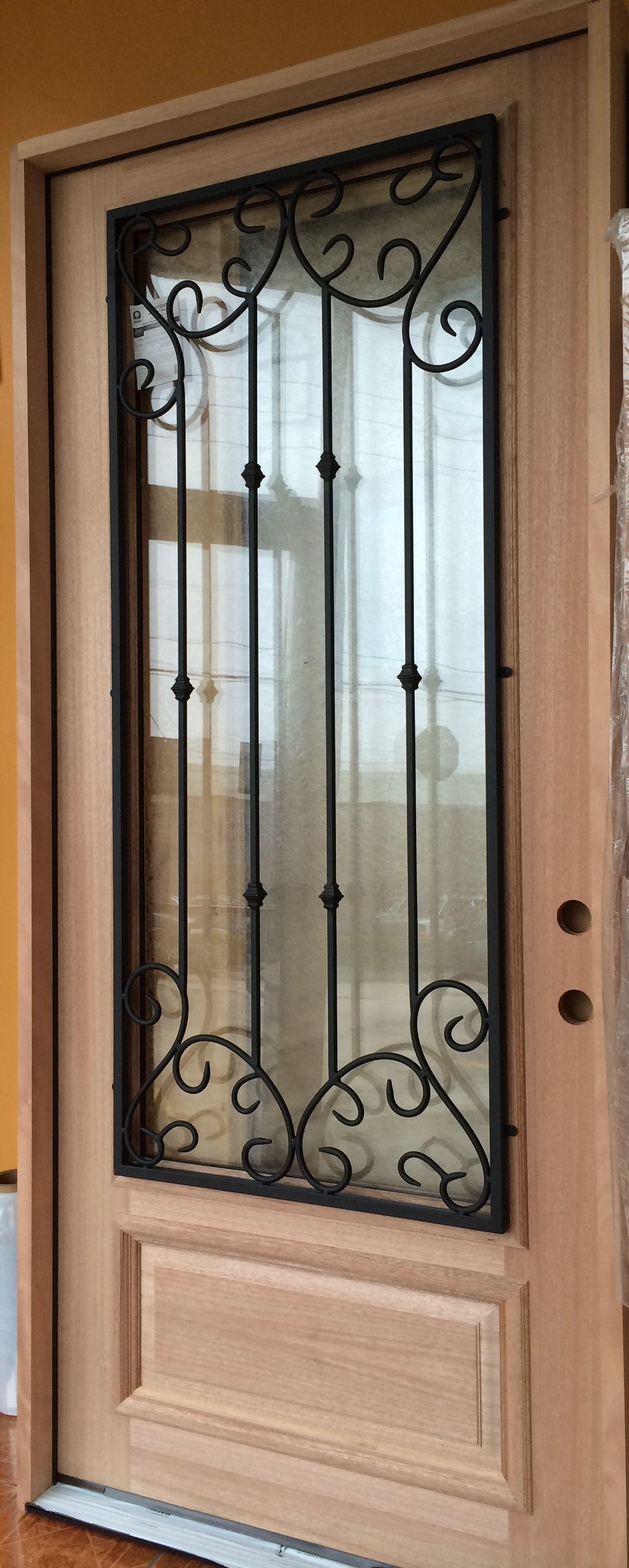 Perfect IRON GRILL WOOD DOOR | Mahogany Wood | Knotty Alder | Doors For Builders,  Inc