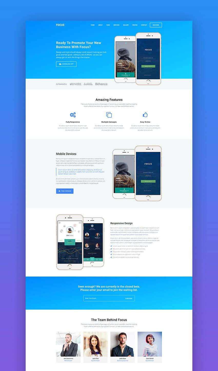 20 Best Mobile App Landing Page Template Designs 2018 App Landing Page Web Design Page Template
