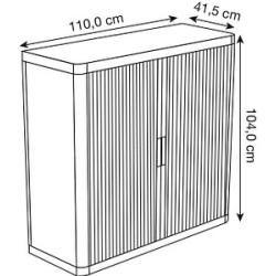 Photo of Paperflow Rollladenschrank weiß/weiß keine Fachböden Paperflow