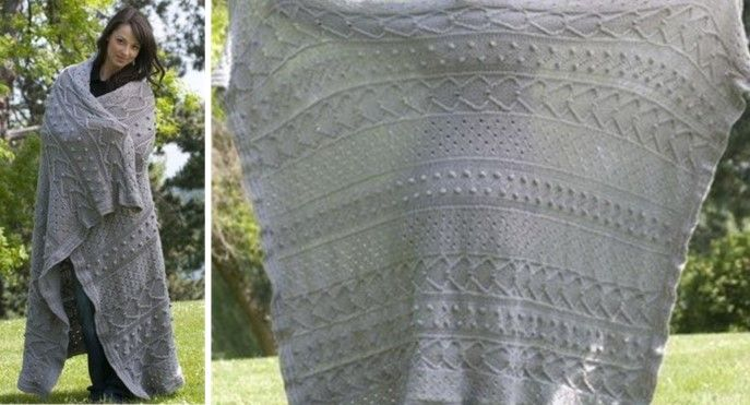 Pacific Elegance Knitted Afghan Free Knitting Pattern Knit