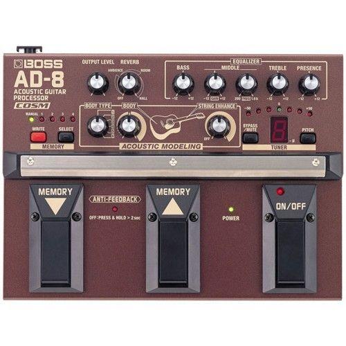 Boss Ad 8 Acoustic Guitar Processor Samash Acoustic Guitar Guitar Effects Acoustic