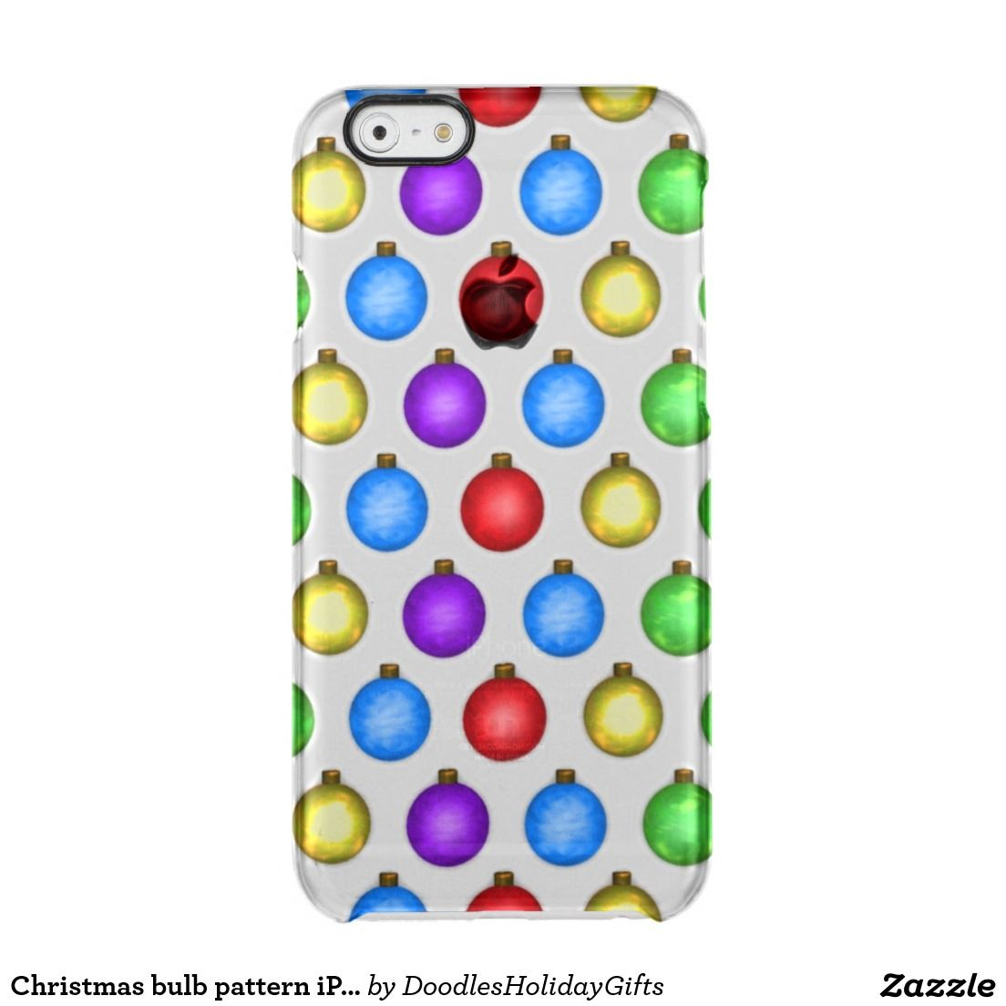 Christmas bulb pattern iPhone 6 uncommon case Uncommon Clearly ...