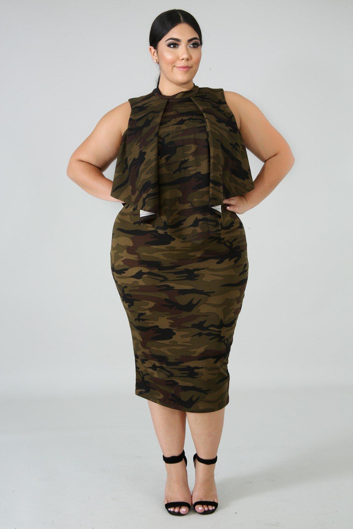 4fb87659c9ac4 Plus Size Army Brat Bodycon Dress in 2019 | Fashion | Dresses, Army ...
