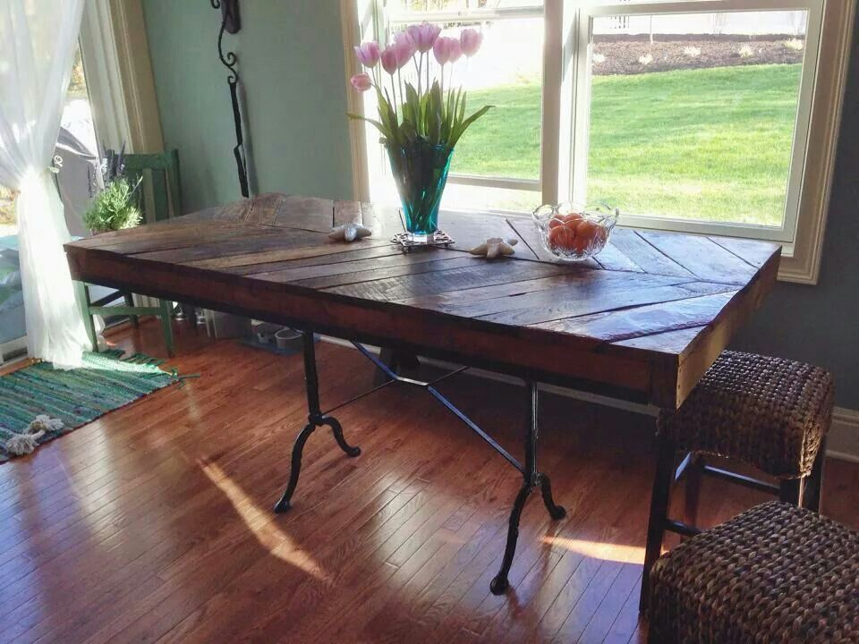 Counter height oak table oak table rustic dining table