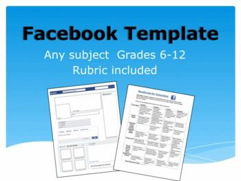 Editable facebook template for any subject complete with grading editable facebook template for any subject complete with grading rubric works for famous scientists pronofoot35fo Gallery