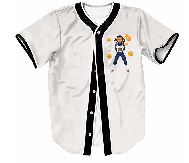 Boondocks Riley Gangsta Wearing Saiyan Amor 7 Dragon Balls Baseball Jersey  Sports Baseball 9f80e3122
