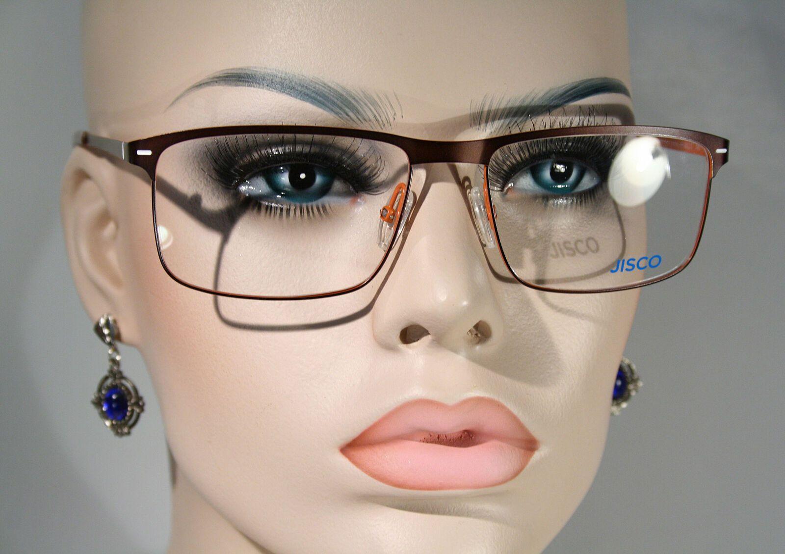 New Jisco Blau Unisex Contemporary Brown Size Large Eyeglasses Frames Glasses Eyeglasses Frames Eyeglasses Unisex