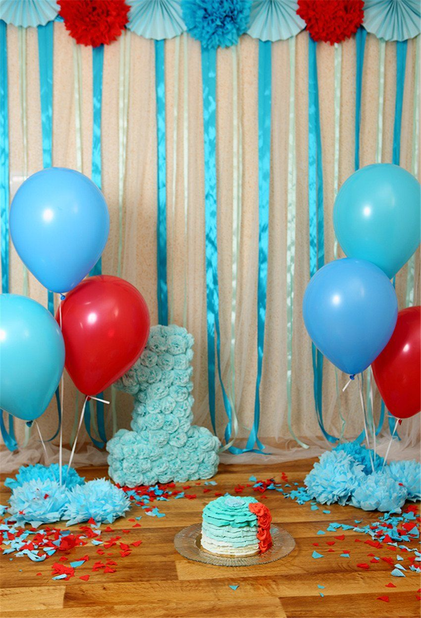 1st birthday wood floor backdrop for party in 2020