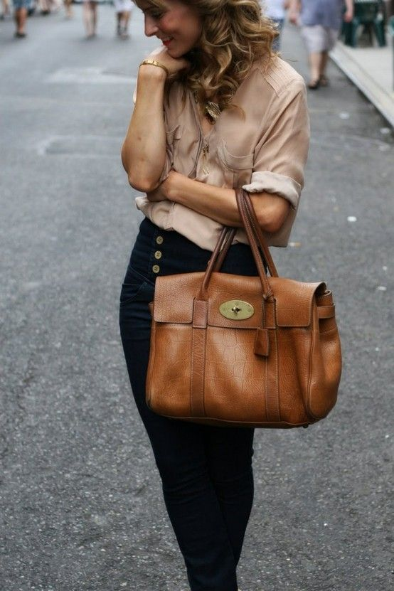 Leather bags go with any outfit  D Really cute 5fefb2bdc1f97