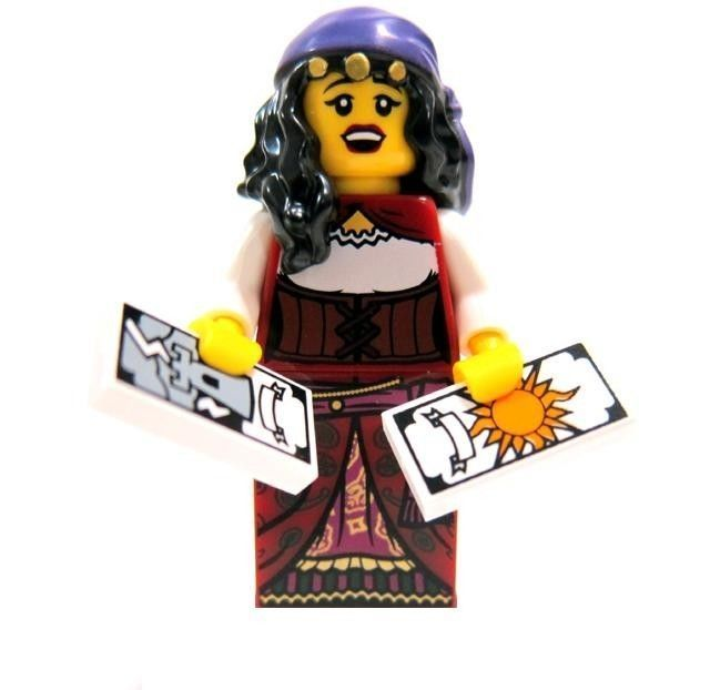 X 1 TAROT CARD FOR THE FORTUNE TELLER SERIES 9 PARTS LEGO-MINIFIGURES SERIES 9