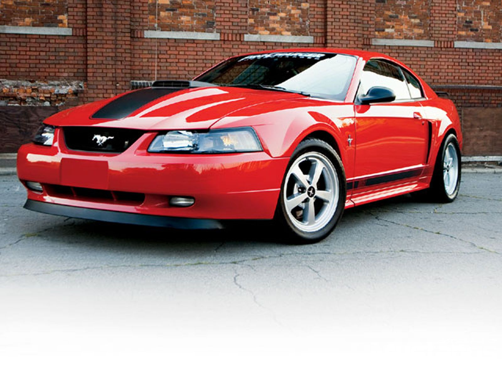 Red 2003 mustang mach 1