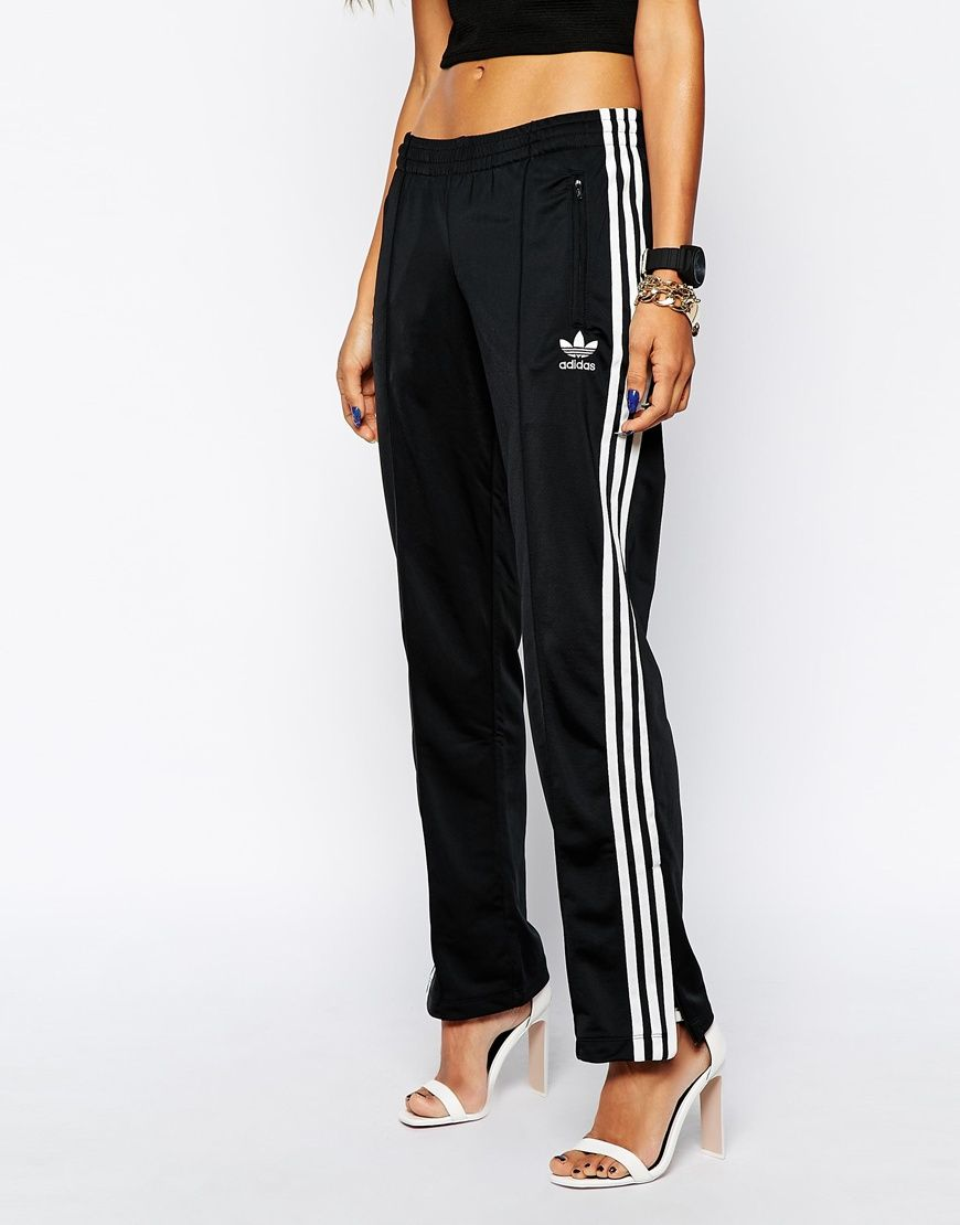 e2e88766c06e Classic Adidas sweat pants  chuck them on with some heels for a major look.