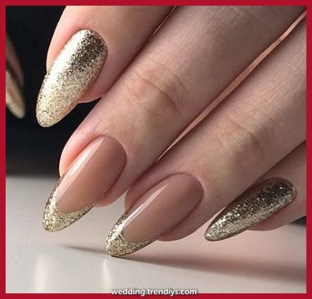 Amazing Greater than marriage ceremony nail concepts gold french manicure concepts for 2019 Informations About 35 ideas wedding n