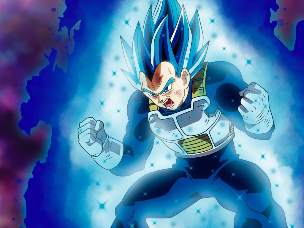 vegeta, dragall ball super, anime girl, blue hair wallpaper
